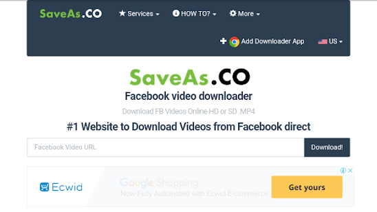 Download Facebook video from saveas.co