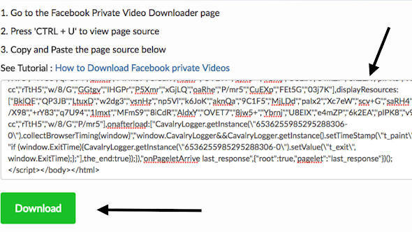 Facebook private video