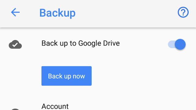 settings backup