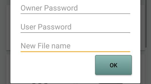 Screenshot PDF utils password