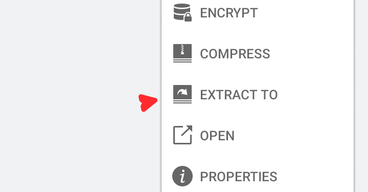 Extract files on Android