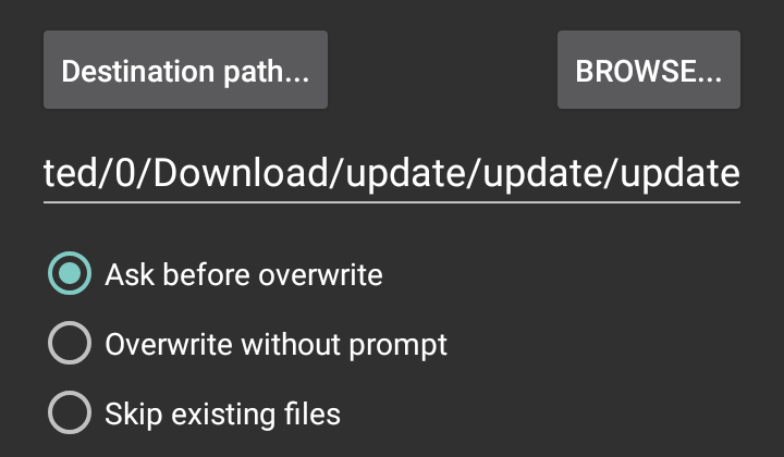 Extract files from Android