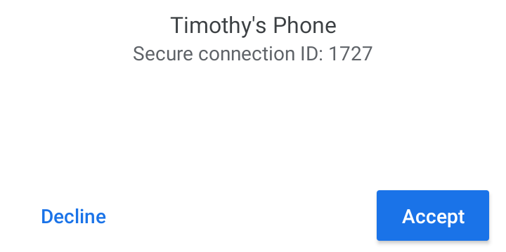 Accept or Decline the Share request