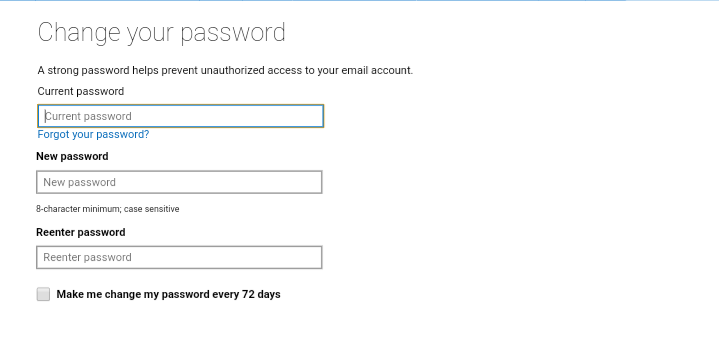 How to set up a password expiration date for a Microsoft account